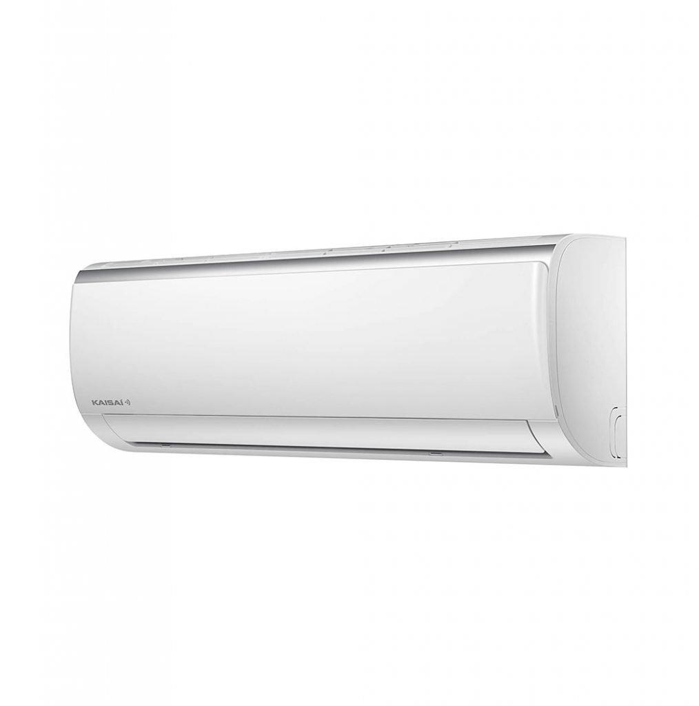 Vnútorná jednotka nástennej klimatizácie značky KAISAI FLY, diaľkové ovládanie a typ použitého chladiva (R32)