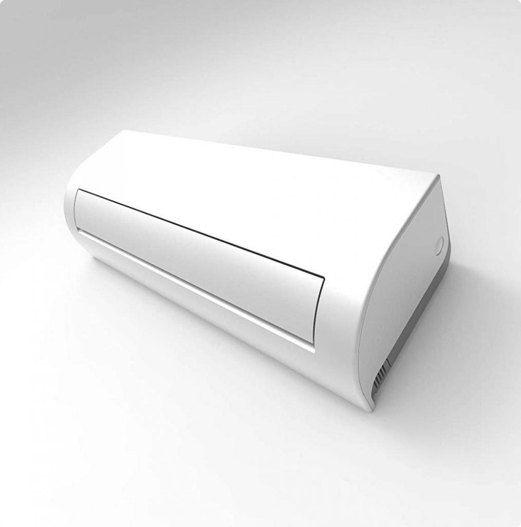 Vnútorná jednotka nástennej klimatizácie značky KAISAI ONE, diaľkové ovládanie a typ použitého chladiva (R32)