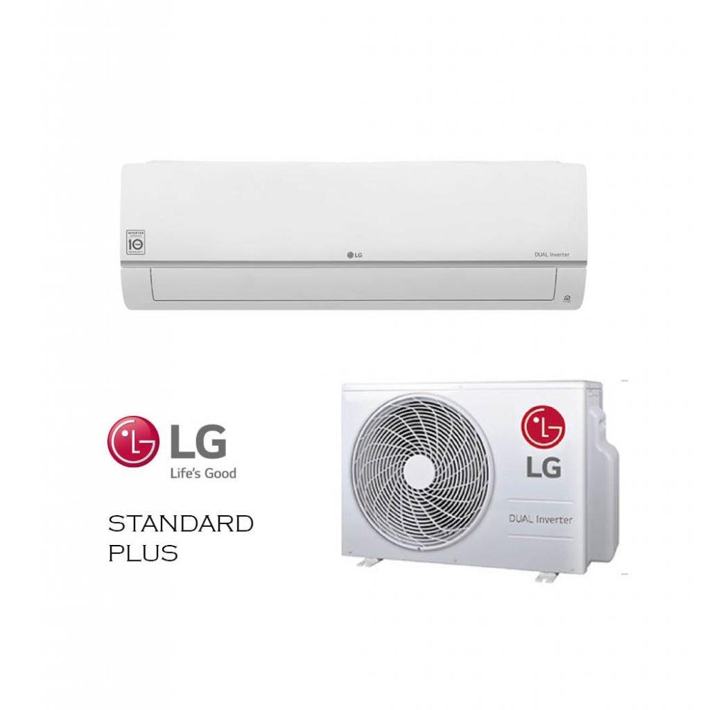 Vonkajšia a vnútorná jednotka nástennej klimatizácie značky LG STANDARD PLUS